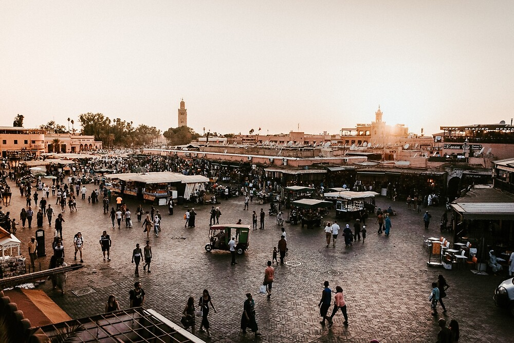 Sunset in Marrakesh by souocare