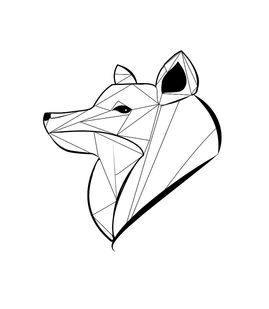 Geometrical Fox by Eugenia Kazak