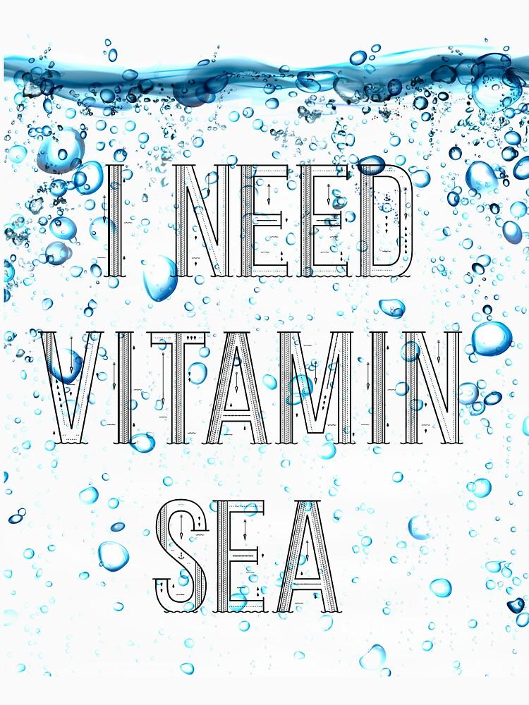 I Need Vitamin Sea Shirt - Summer Holiday Gifts by jamescubitt