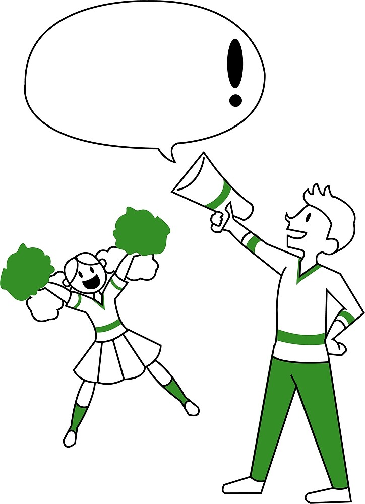 Speech Bubble Series: Cheer by jalules