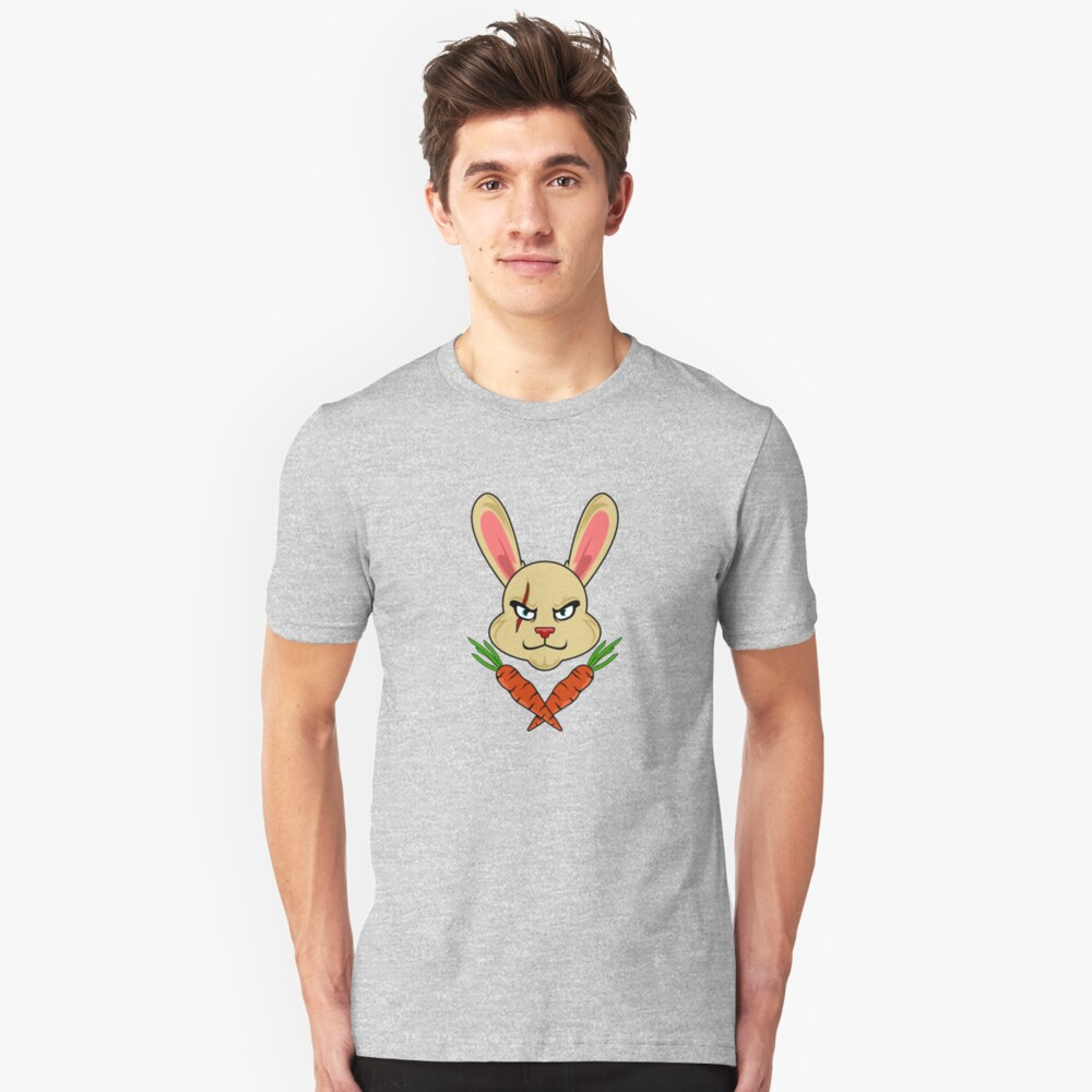SKULL AND BONES BUNNY CARROTS HAPPY EASTER DECORATION SHIRTS Unisex T-Shirt Front