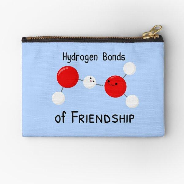 Hydrogen Bonds of Friendship Zipper Pouch