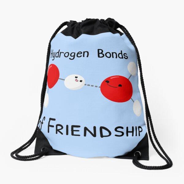 Hydrogen Bonds of Friendship Drawstring Bag