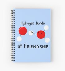 Hydrogen Bonds of Friendship Spiral Notebook
