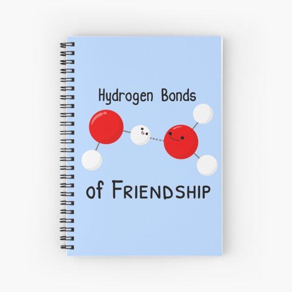 Hydrogen Bonds of Friendship Spiral Notebook