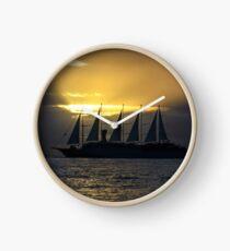 Ship in the evening light Clock