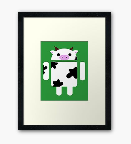 Droidarmy: Who let the cows out? Framed Print