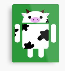 Droidarmy: Who let the cows out? Metal Print