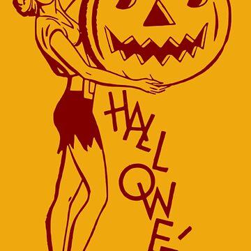 Halloween Pin-up by Slinky-Reebs
