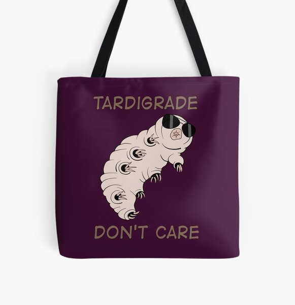 Tardigrade Don't Care All Over Print Tote Bag