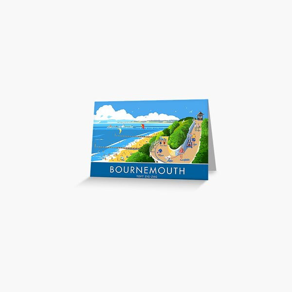 Toft Zig-Zag, Bournemouth Greeting Card