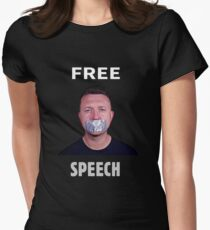 Free Speech - Tommy Robinson Women's Fitted T-Shirt