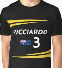 F1 2019 - #3 Ricciardo [black version] Graphic T-Shirt