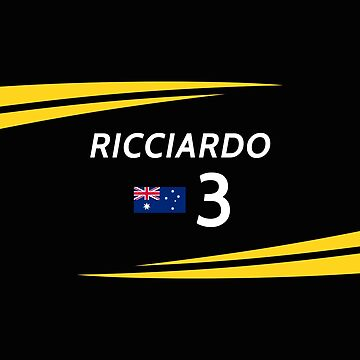 F1 2019 - #3 Ricciardo [black version] by sednoid