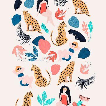 Tropical girls and Cheetah by Lidiebug