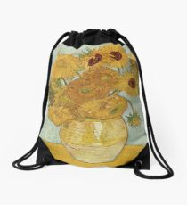 Vincent van Gogh's Sunflowers Drawstring Bag