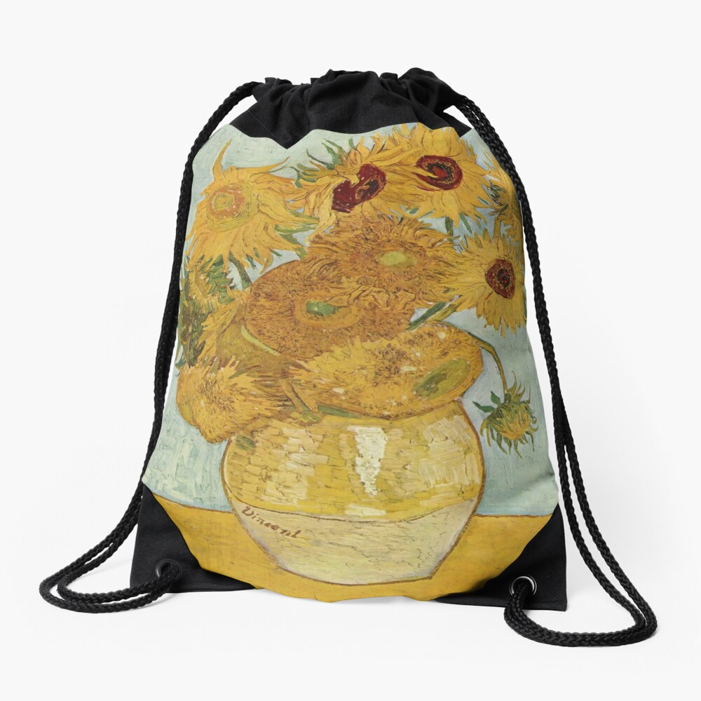Vincent van Gogh's Sunflowers Drawstring Bag
