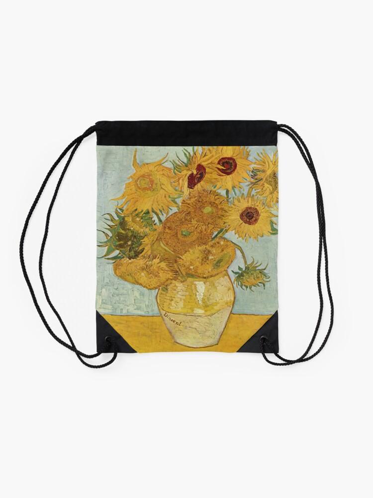 Alternate view of Vincent van Gogh's Sunflowers Drawstring Bag