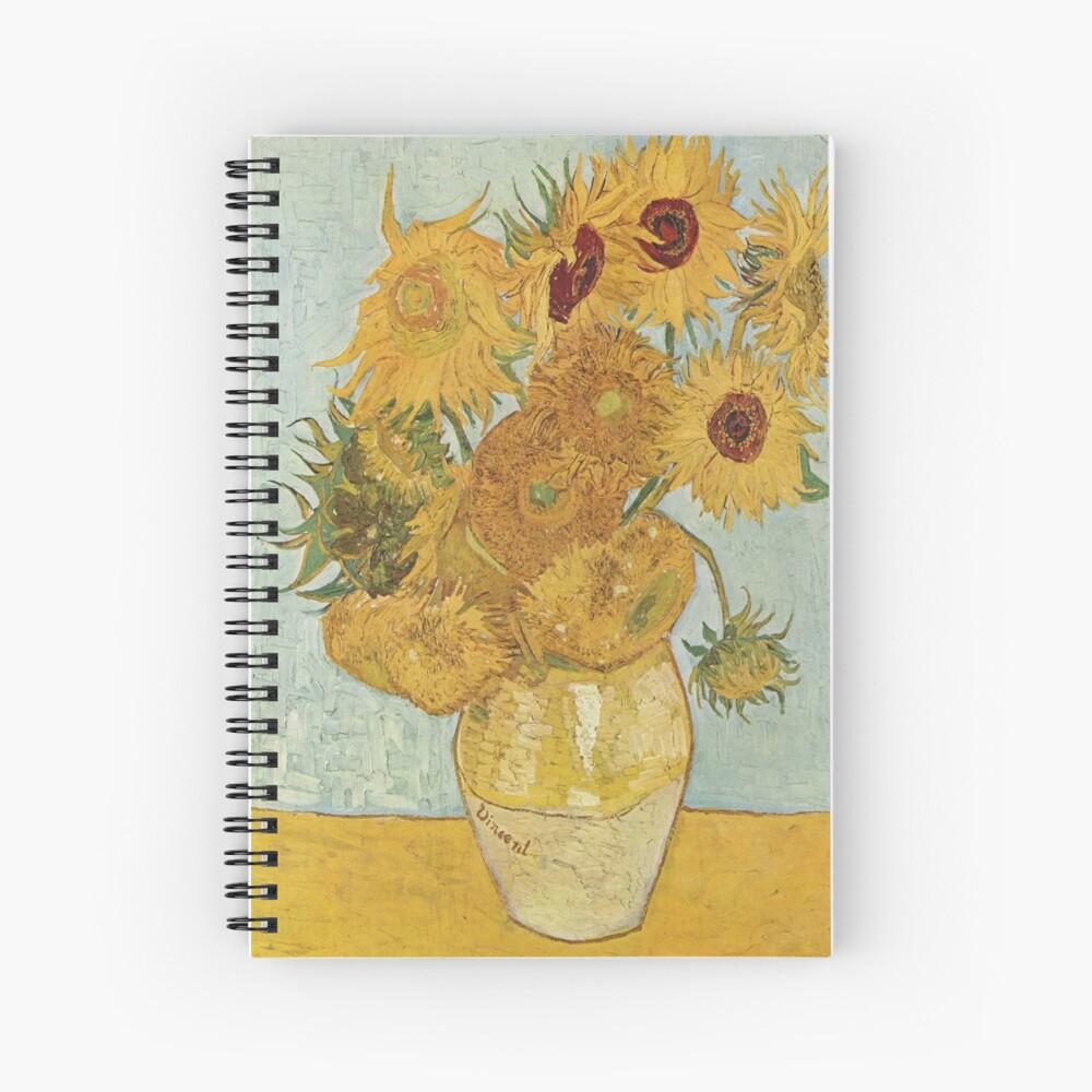 Vincent van Gogh's Sunflowers Spiral Notebook