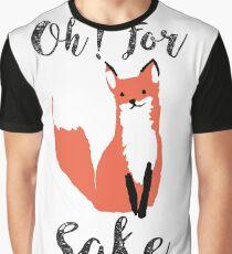 Funny Hilarious Sarcasm Pun Fox T Shirt Fox Lover Graphic T-Shirt