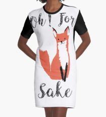 Funny Hilarious Sarcasm Pun Fox T Shirt Fox Lover Graphic T-Shirt Dress