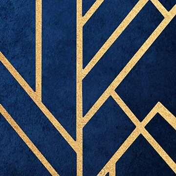 Blue and Gold Phone Case Design by Moiza
