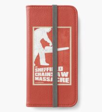 THE SHEFFIELD CHAINSAW MASSACRE POSTER iPhone Wallet/Case/Skin