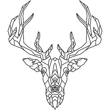 Deer Geometric as Geometric by FrediWicht