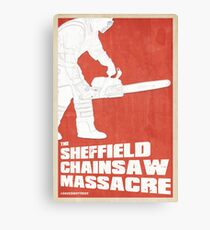 THE SHEFFIELD CHAINSAW MASSACRE POSTER Canvas Print
