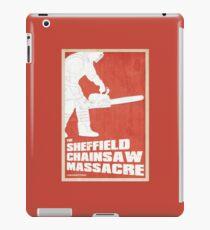 THE SHEFFIELD CHAINSAW MASSACRE POSTER iPad Case/Skin