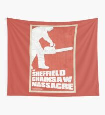 THE SHEFFIELD CHAINSAW MASSACRE POSTER Wall Tapestry
