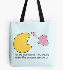 Enzyme and Substrate Love Story Tote Bag