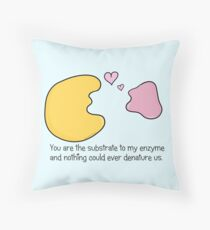 Enzyme and Substrate Love Story Throw Pillow