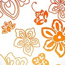 Orange Flowers by Amanda-Jane Snelling