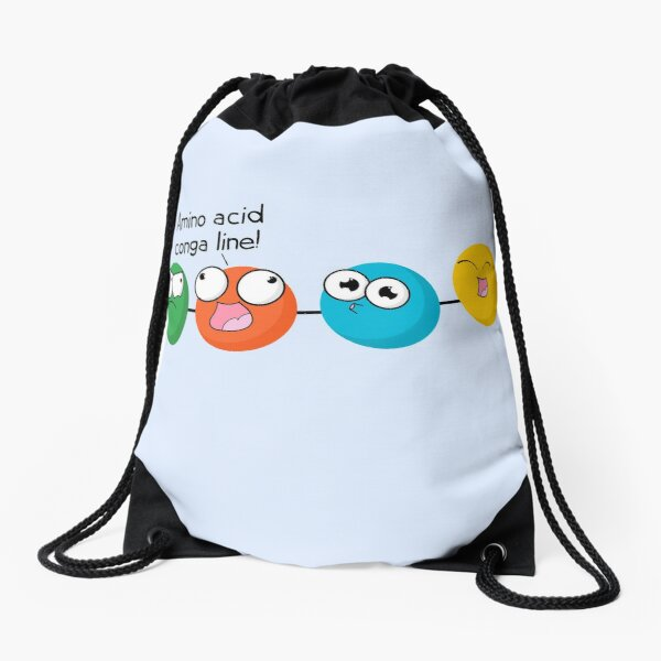 Amino Acid Conga Line Drawstring Bag