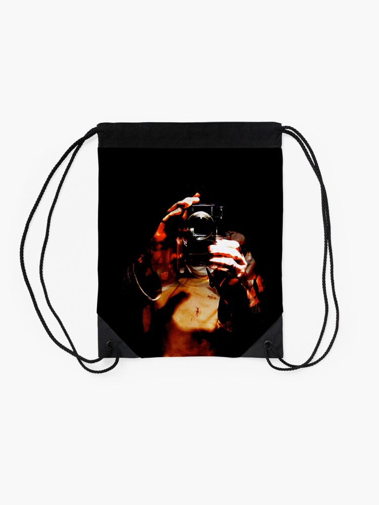 Alternate view of Say Cheese Drawstring Bag
