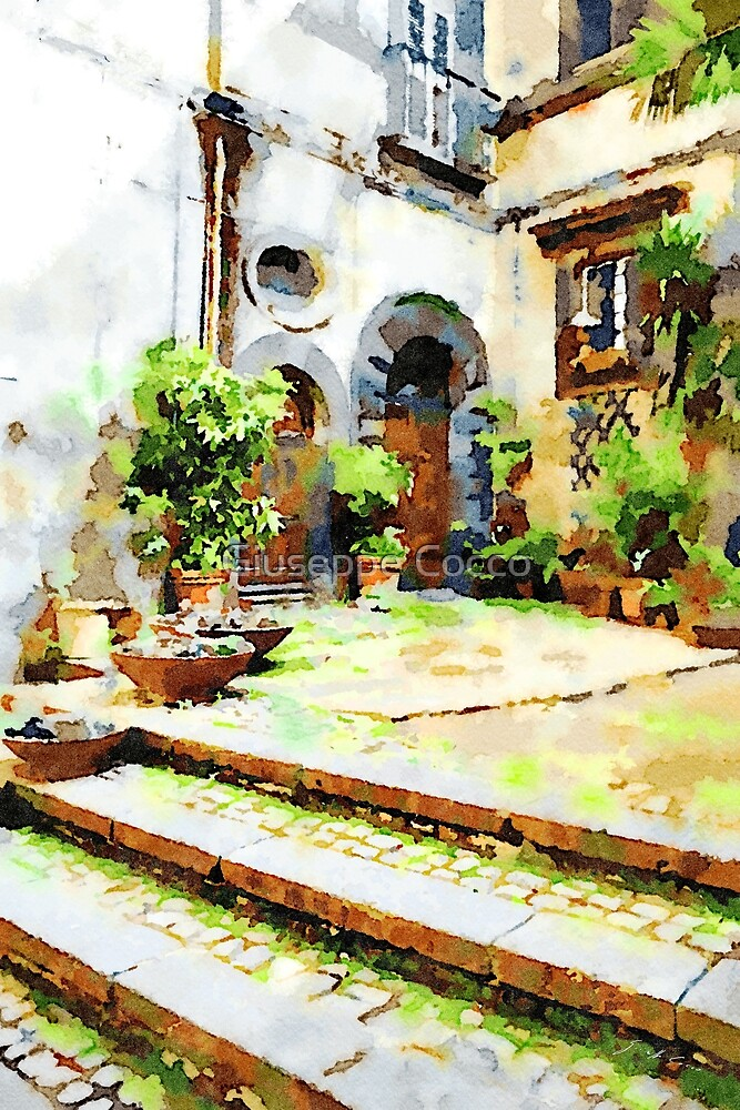 Bracciano: three steps and two gates between the plants by Giuseppe Cocco