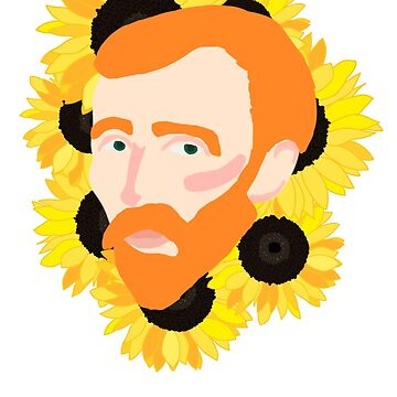 Van Gogh and Sunflowers by RockettMagic