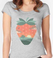 champs de fraises T-shirt échancré