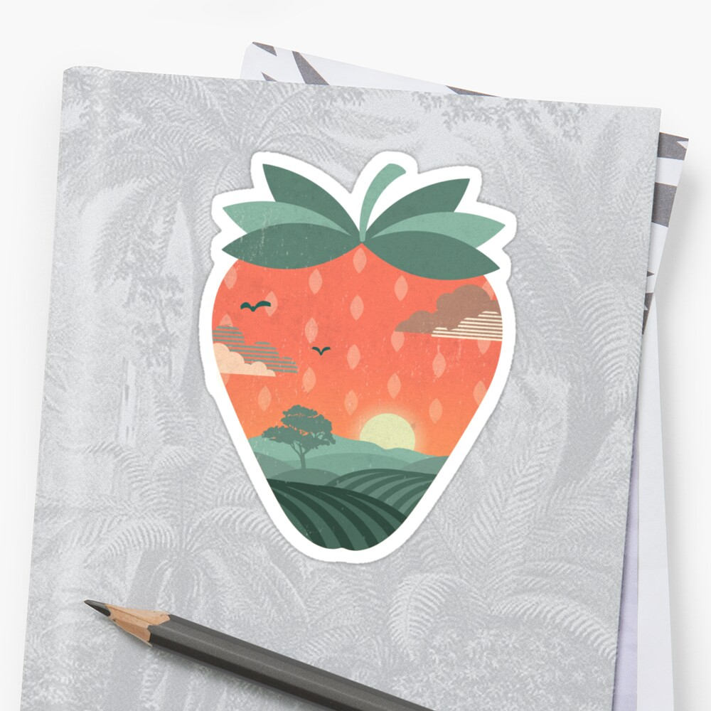 Strawberry Fields Sticker