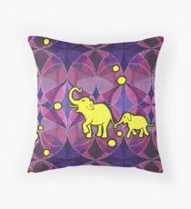 Yellow Elephants Kissen