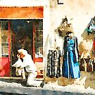 Bracciano: photographer in front of clothes shop by Giuseppe Cocco