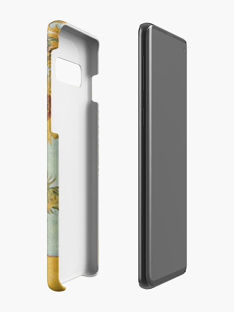 Alternative Ansicht von Vincent van Goghs Sonnenblumen Hülle & Klebefolie für Samsung Galaxy