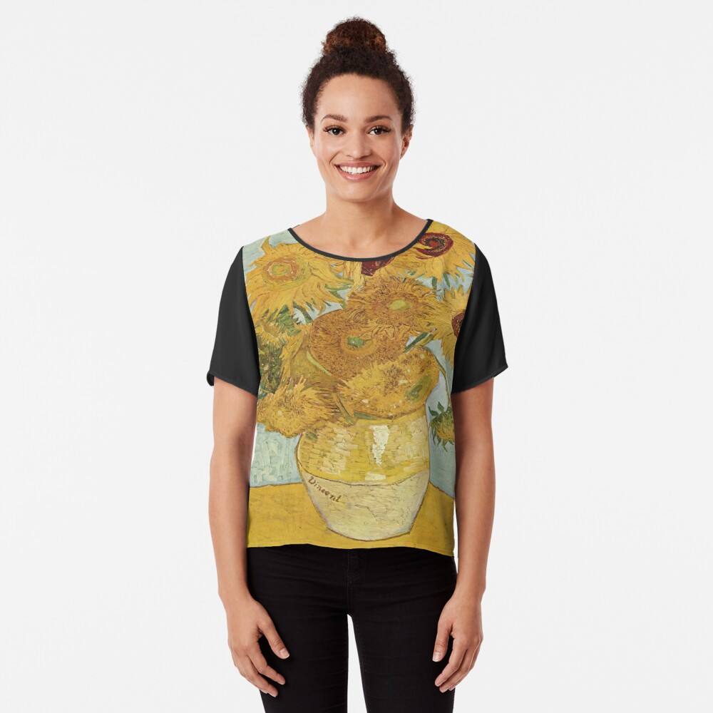 Vincent van Gogh's Sunflowers Chiffon Top