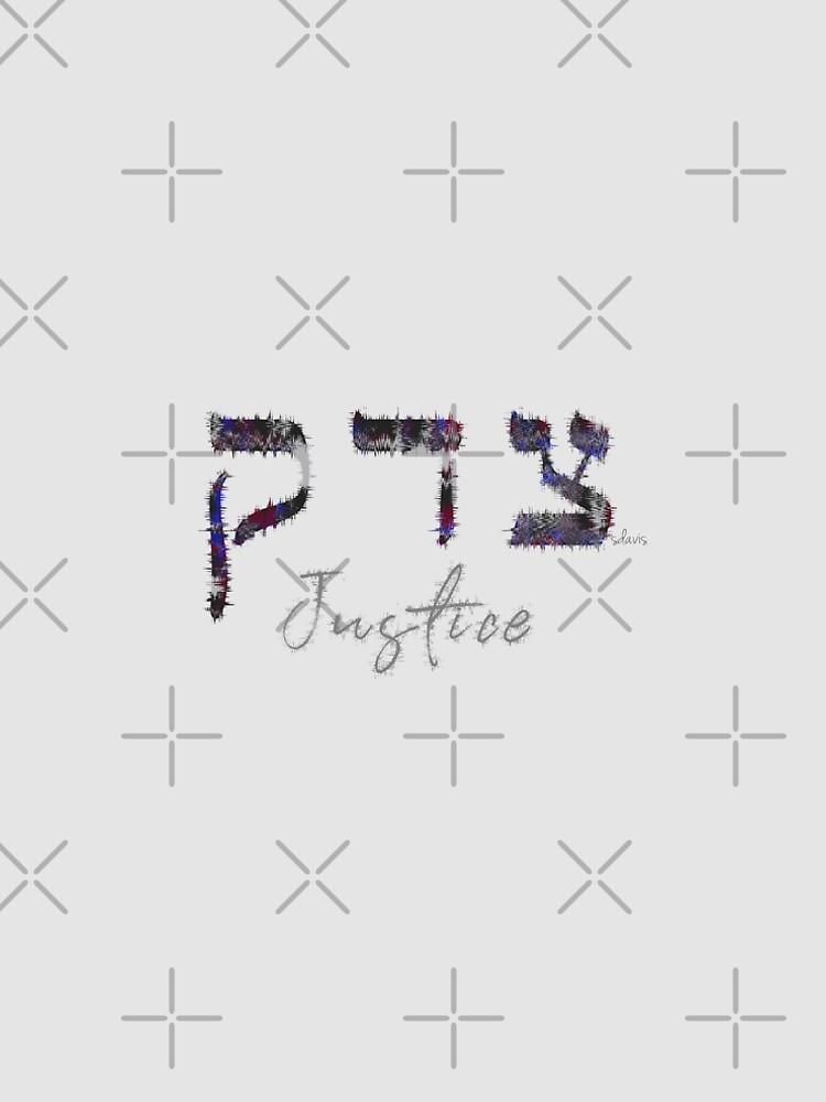 "Hebrew ""Tze-Dek"" Justice 81118 by mandalafractal"