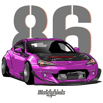 GT86 (pink) by MotorPrints