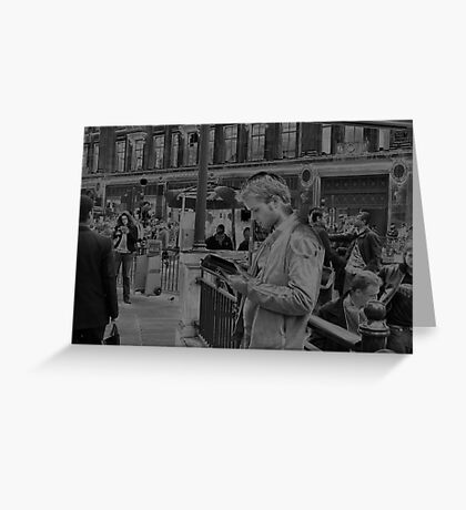 Piccadilly Circus, Solarised Photographic Art. Greeting Card