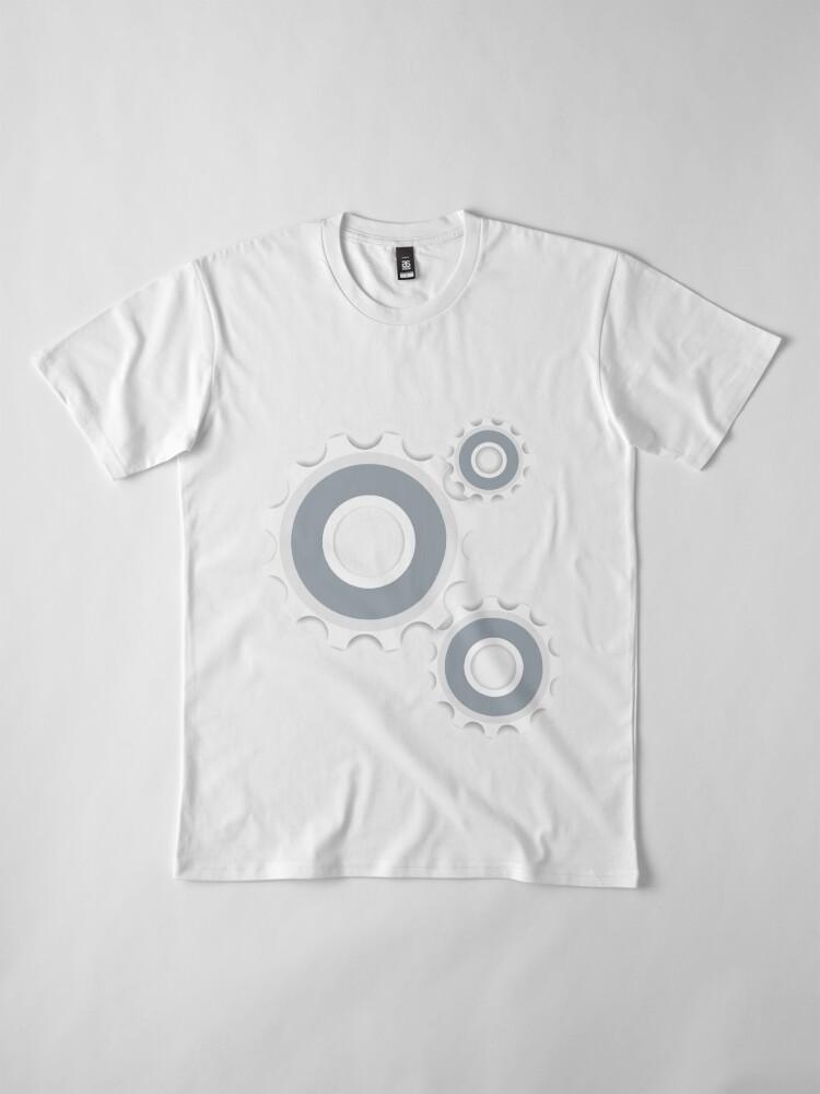 Alternative Ansicht von Zahnrad Zahnrad Premium T-Shirt