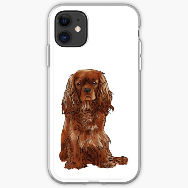 Cavalier King Charles Spaniel - Ruby iPhone Soft Case