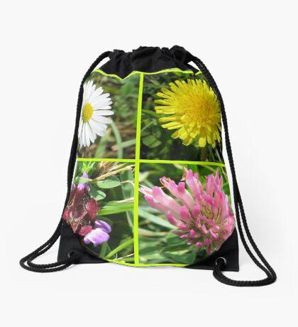 Wildflowers Collage Turnbeutel